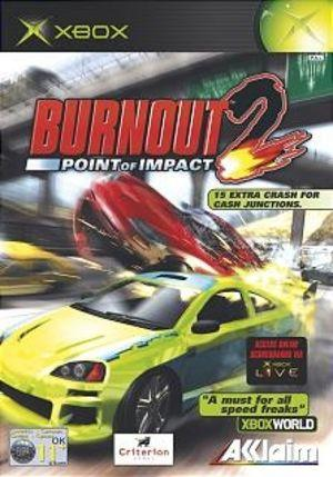 Burnout 2: Point of Impact xbox box art