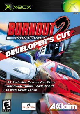 Burnout 2: Point of Impact Developer's cut box art